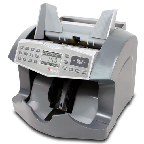 Cassida Advantec 75UV/MG Currency Counter (Cassida 75UM) Magnetic and Ultraviolet Counterfeit Detection