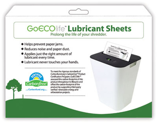Shredder Lubricant Sheets (24 pack)