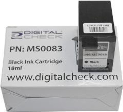 Digital Check MS0083 Black Inkjet Cartridge, Factory Supplied Model, not HP equivalent (same inkjet cartridge as C6602A)