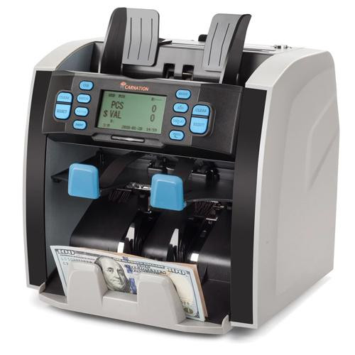 Carnation CR1500 Mixed Bill Value Counter, processes EUR, USD, GBP & CAD Currency! Includes 1 Year Warranty!