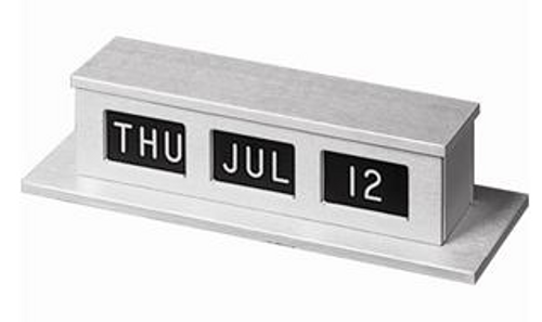 Self Storing Single-Faced or Optional Double Faced Perpetual Counter Calendar