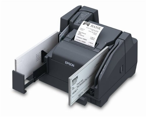 Epson TM-S9000, Check Scanning/Endorsement/Receipt Printing/Two-sided ID Scanning, USB, 200 DPM, 1 Pocket, Dark Gray, with Power Supply #A41A267101