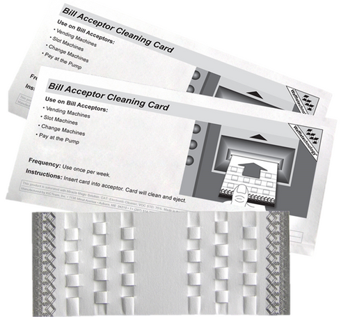 Bill Acceptor Cleaning Cards (Specially designed for all bill acceptors!) #BZS34