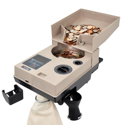 Cassida C500 Heavy Duty Coin Counter, Coin Packager with Offsort
