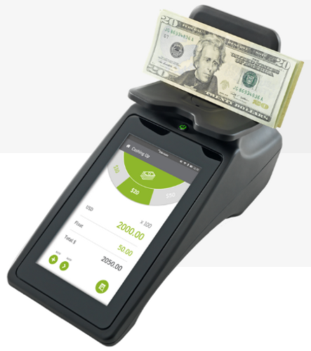 TellerMate Touch, Touchscreen Cash & Coin Counter