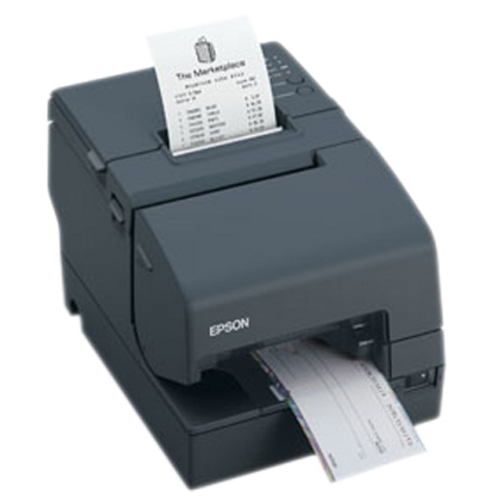 Epson TM-U675 Multifunction Printer (USB) #C31C283A8791 with MICR & Autocutter (Dark Grey) TMU-675