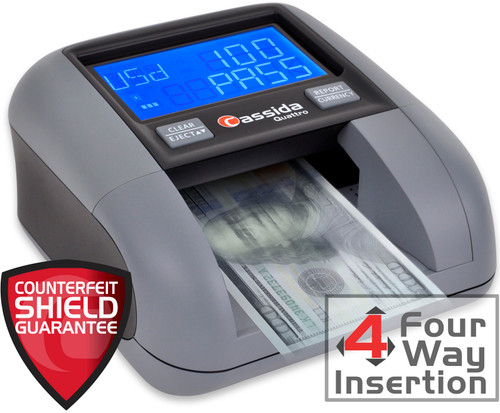 Cassida Quattro 4-Way Automatic Counterfeit Money Detector (The BEST CF detector!) SHIPS FREE!