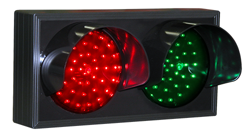 Signal-Tech 7383, Indicator Dots, double with hoods, horizontal, Red - Green LED Sign #TCL714RG-225H