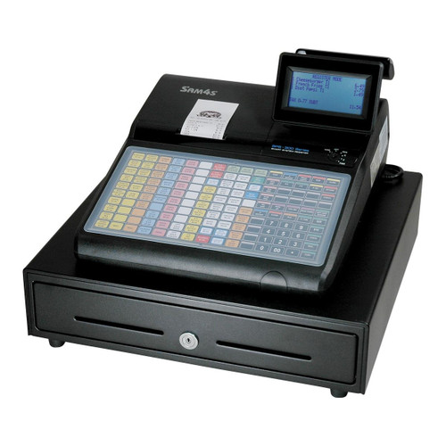 Sam4s ECR SPS-320 (flat keyboard, 8 line display, with receipt printer)