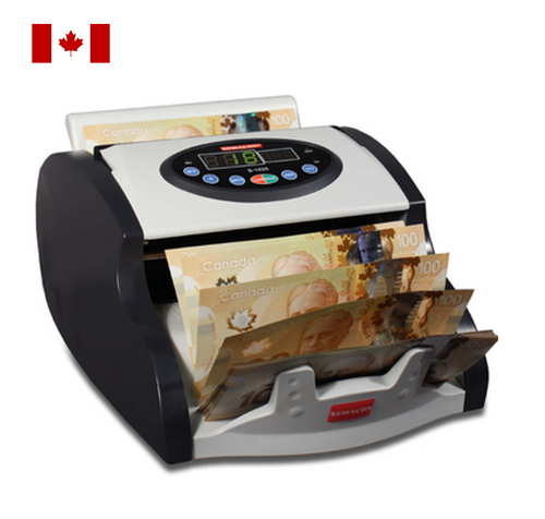 Semacon S-1015UV-CAD Canadian Polymer Currency Counter with Ultraviolet Counterfeit Detection