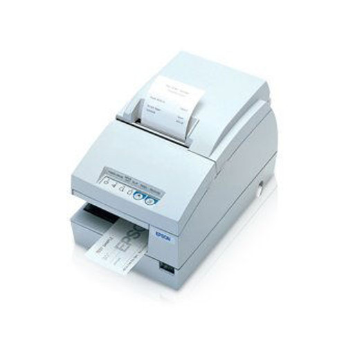 Epson TM-U675 Multifunction POS Printer (Serial) #C31C283012 (Cool White) TMU-675, NO MICR OR AUTO CUTTER