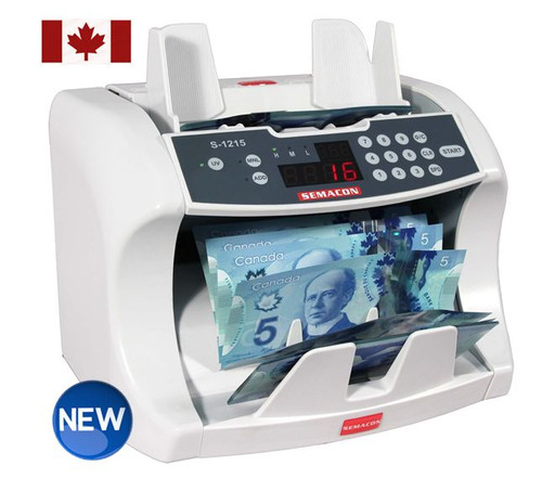 Semacon S-1215 CAD for Canadian Paper and Polymer Notes  (With UV Counterfeit Detection)