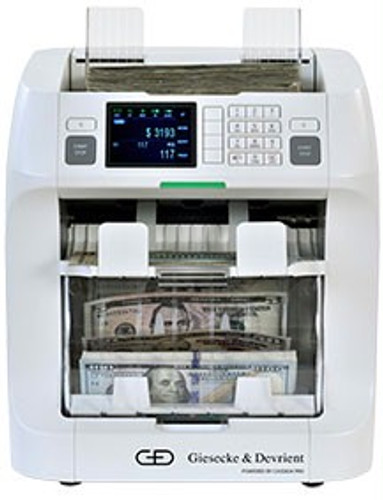 Giesecke & Devrient ZEUS Mixed Currency Discriminator (G&D ZEUS value counting mixed currency cash counter)