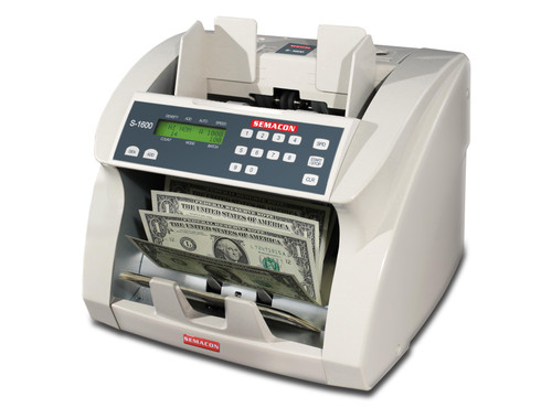 Semacon S-1600 Series Heavy Duty Currency Counter with optional counterfeit detection (Piece counter only, cannot read denominations)