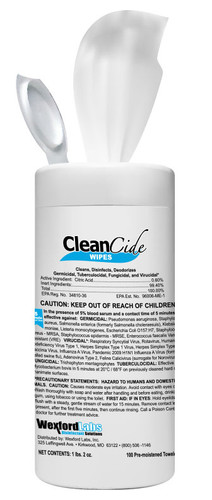 Wexford CleanCide is an EPA registered, citric acid based germicidal designed to clean and disinfect in one easy step-COVID19 Effective!