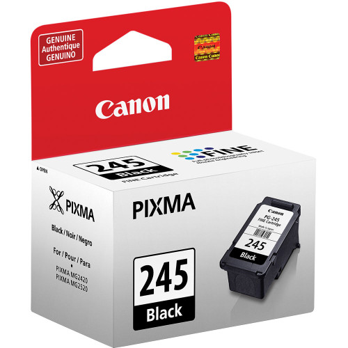 Canon PIXMA 245 Black Inkjet Cartridge (PG-245) Certified Non-Generic OEM, Canon CR190i-II, CR120/CR150 Cartridge 8279B001