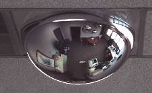 "Drop Ceiling Full Dome Mirror, 2ft by 4ft tile, 22"" diameter, AV48DI"