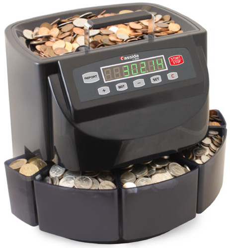 Cassida C200 MEX Pec Coin Sorter and Wrapper
