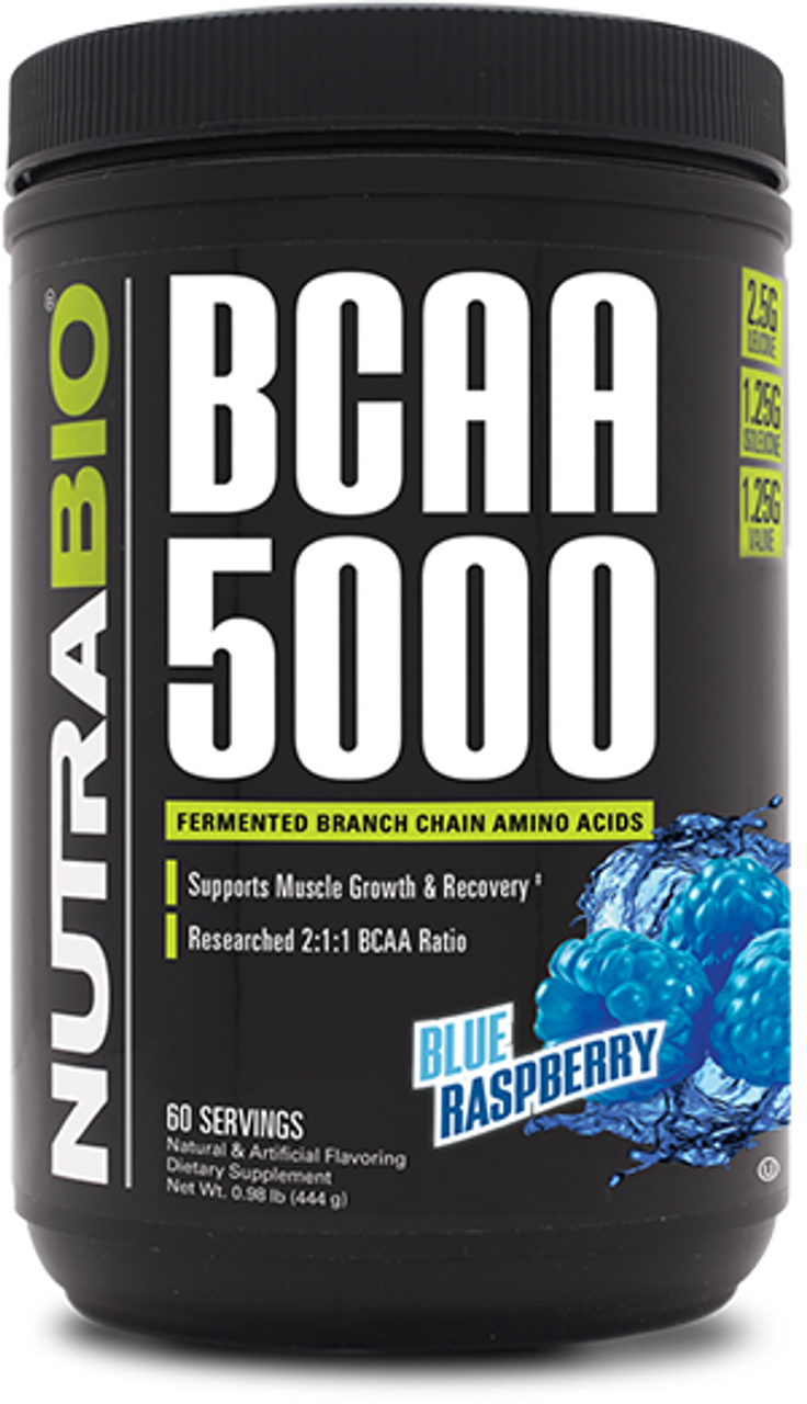 BCAA 5000 Powder - 60 Servings (Blue Raspberry)
