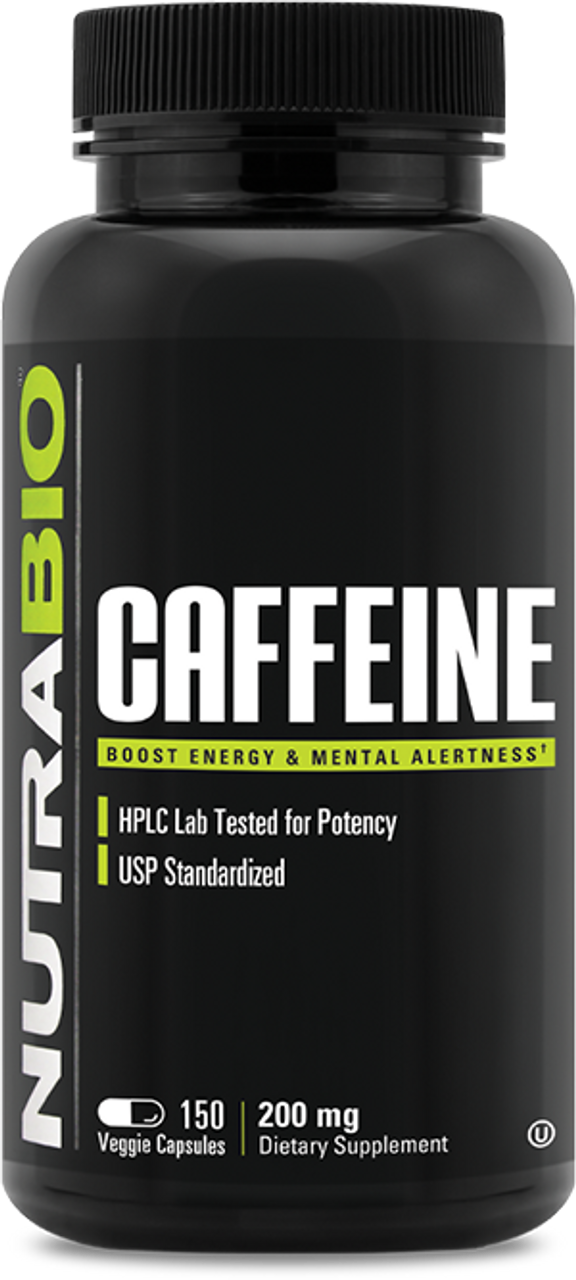 Caffeine Anhydrous (200mg) - 150 Vegetable Capsules