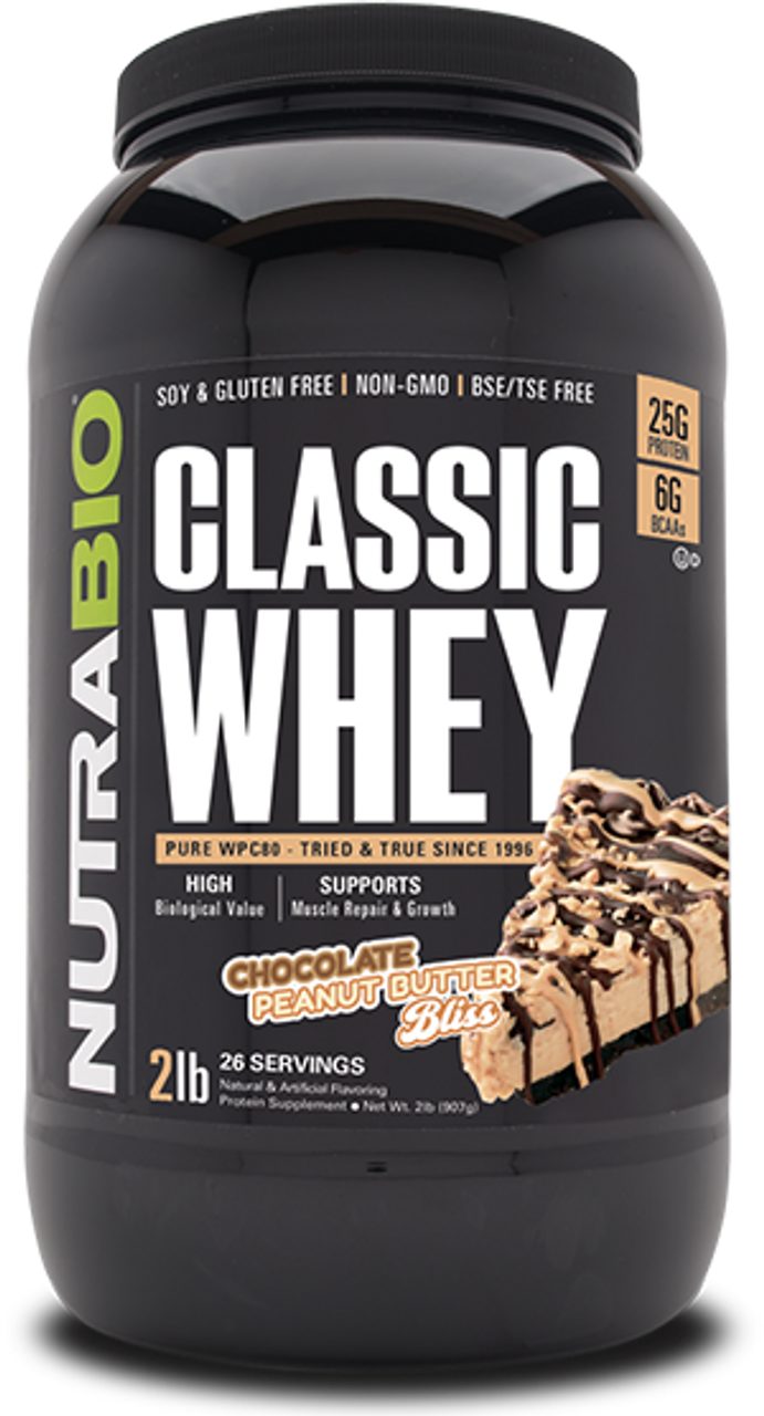 Classic Whey Protein - 2 Pounds (Chocolate Peanut Butter Bliss)