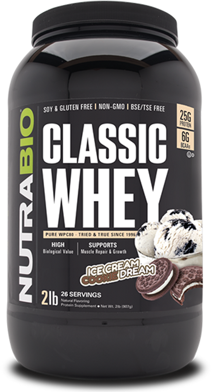 Classic Whey Protein - 2 Pounds (Ice Cream Cookie Dream)