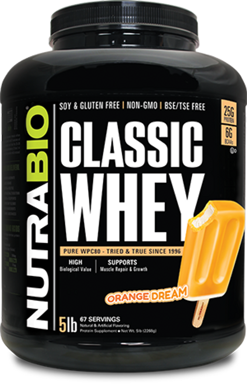 Classic Whey Protein - 5 Pounds (Orange Dream)