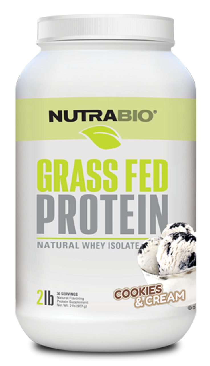 Grass-Fed Whey Protein Isolate - 2 Pounds (Cookies and Cream)