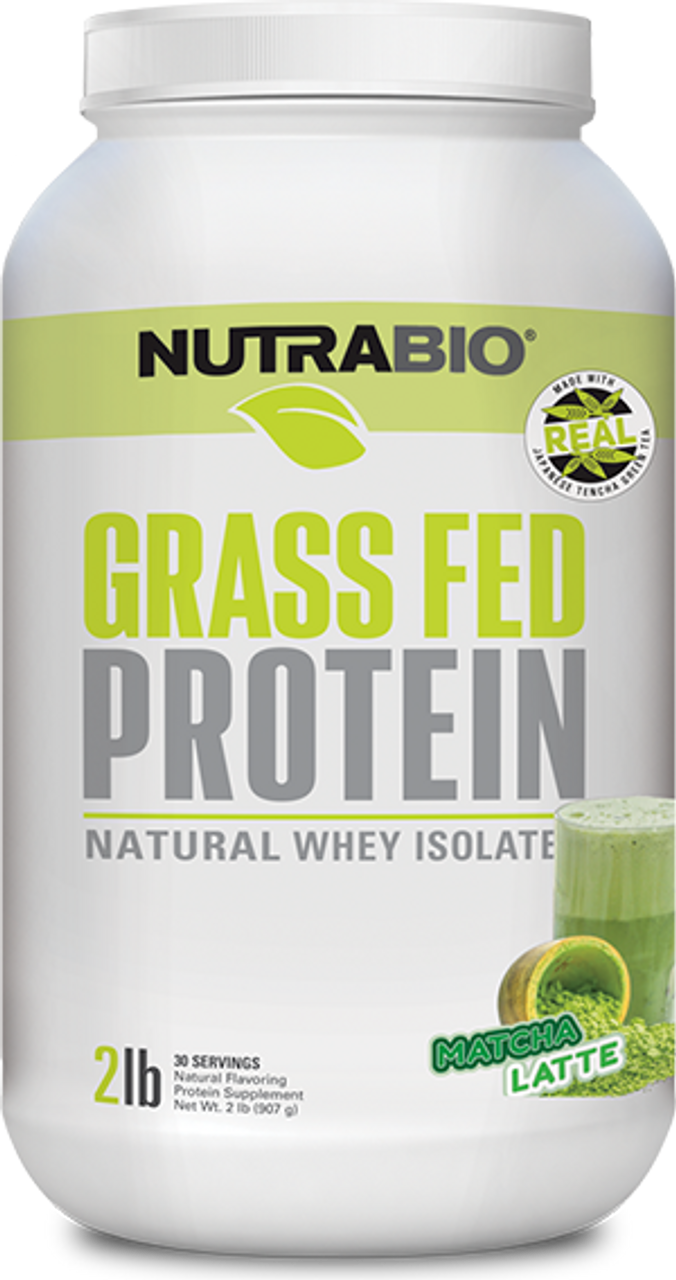 Grass-Fed Whey Protein Isolate - 2 Pounds (Matcha)