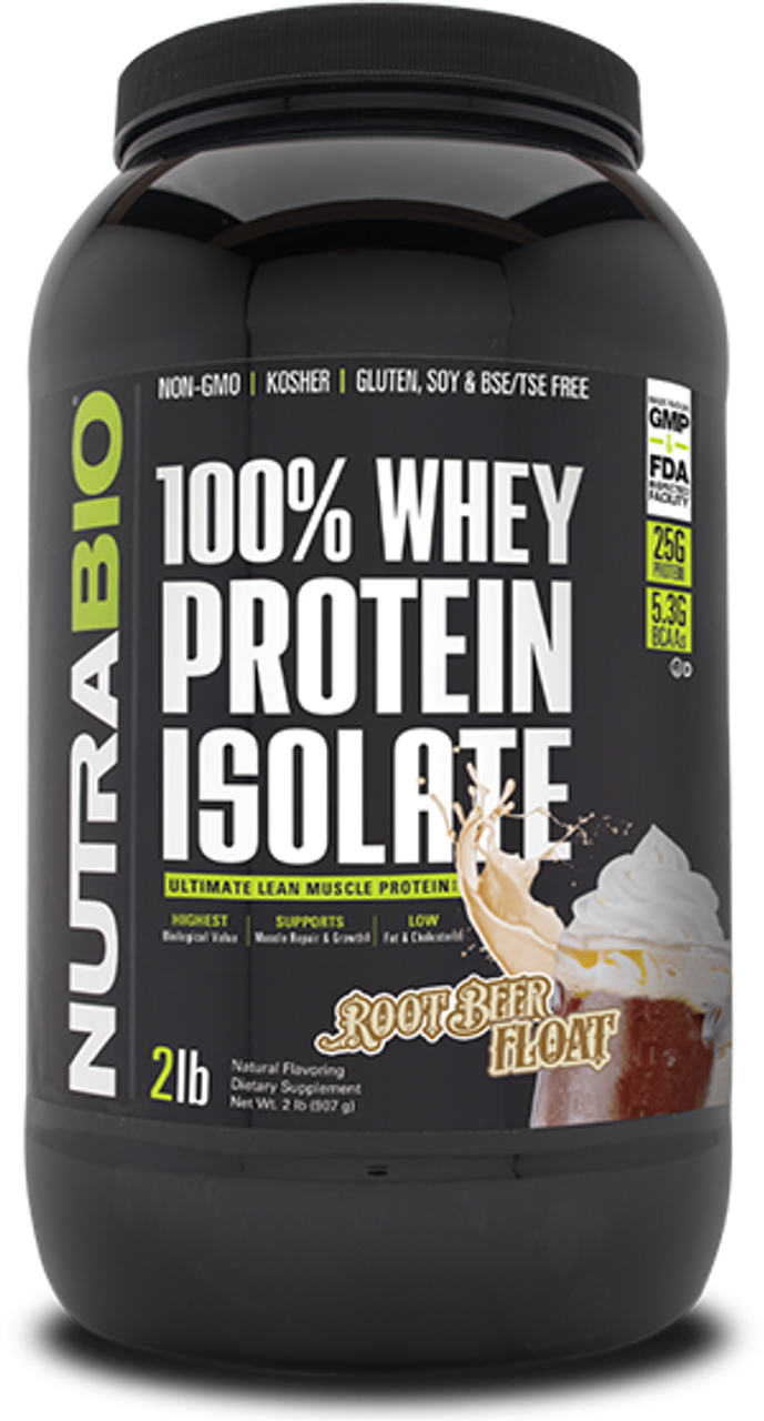 Whey Protein Isolate - 2 Pounds (Root Beer Float)