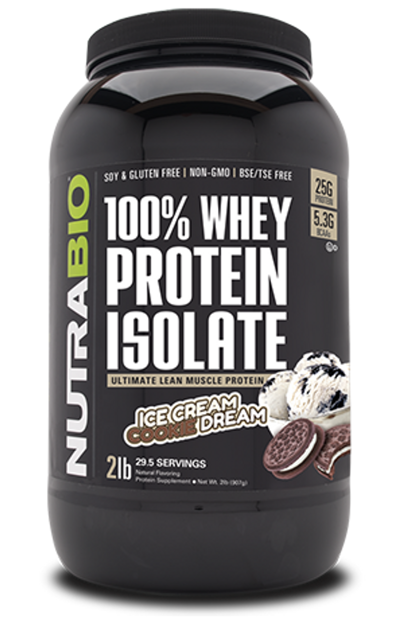 Whey Protein Isolate - 2 Pounds (Ice Cream Cookie Dream)