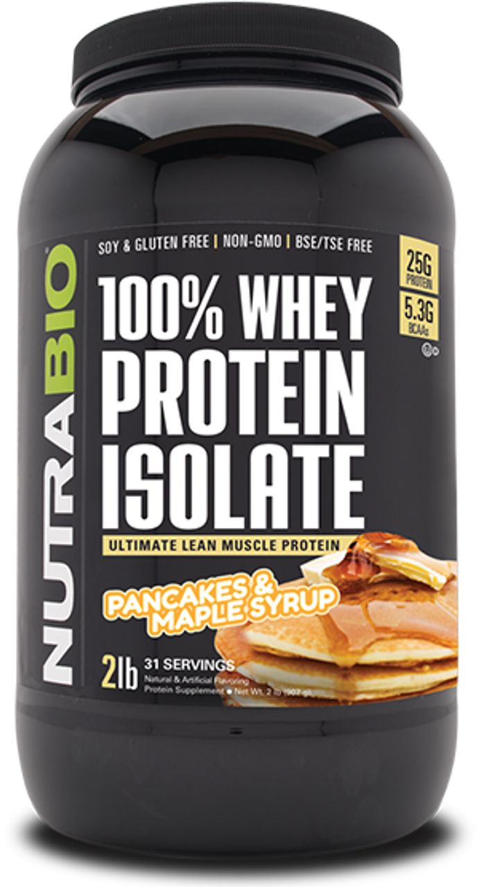 Whey Protein Isolate - 2 Pounds (Pancakes and Maple Syrup)
