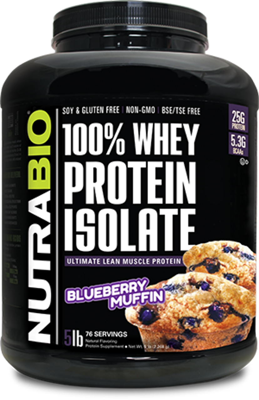 Whey Protein Isolate - 5 Pounds (Blueberry Muffin)