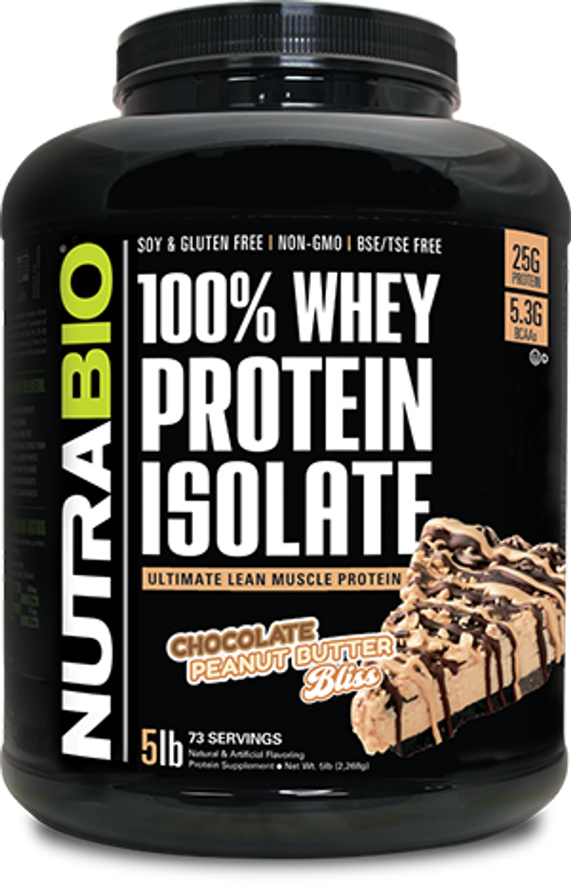Whey Protein Isolate - 5 Pounds (Chocolate Peanut Butter Bliss)