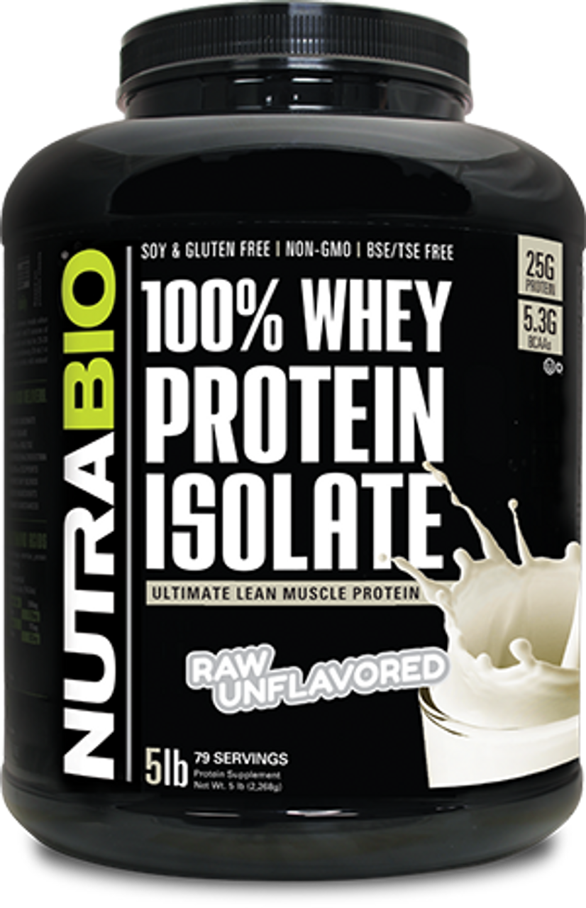 Whey Protein Isolate - 5 Pounds (Unflavored)