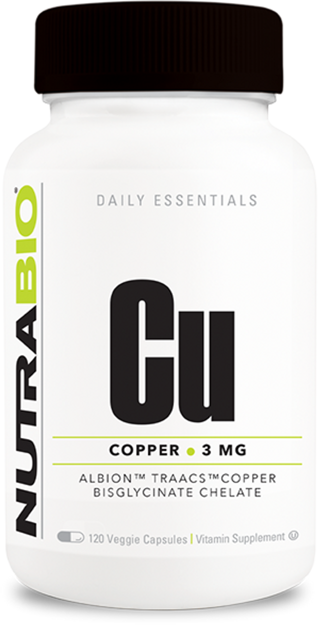 Copper Chelate (3 mg) - 120 Vegetable Capsules