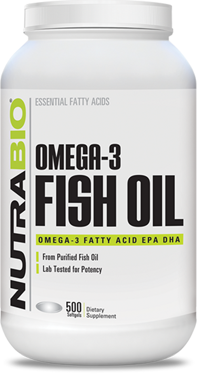 Omega 3 Fish Oil - 500 Softgels