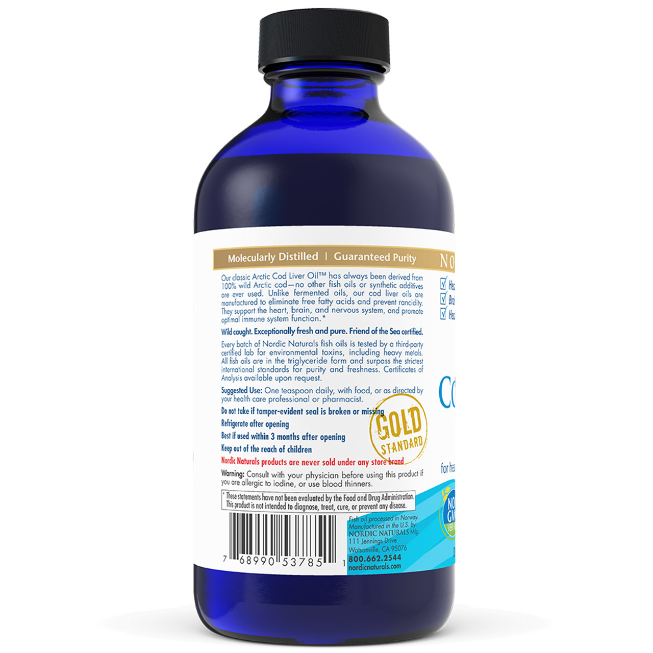 Arctic Cod Liver Oil Unflavored