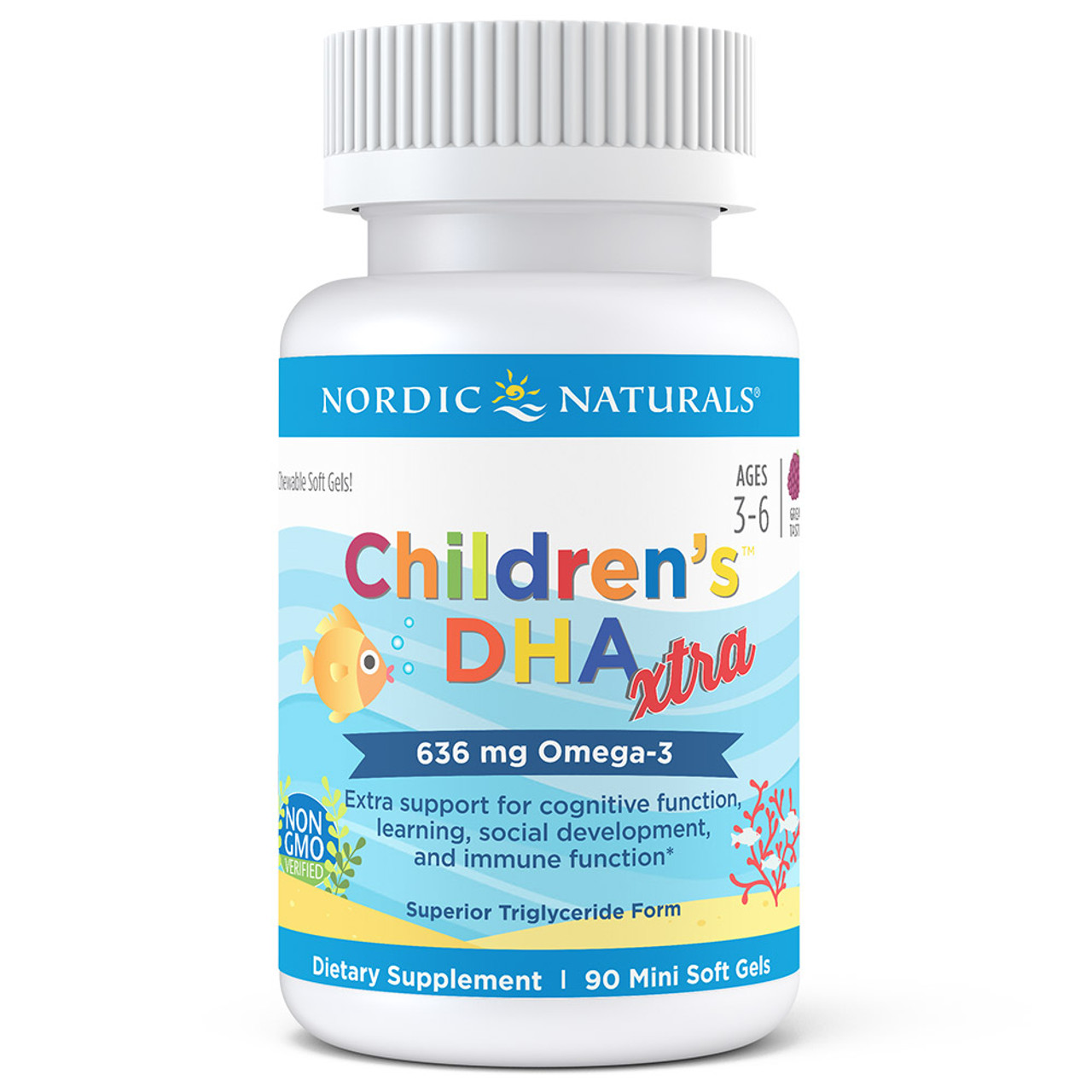 Children's DHA Xtra berry punch 90 ct.