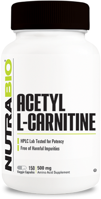 Acetyl L-Carnitine (500mg) - 150 Vegetable Capsules