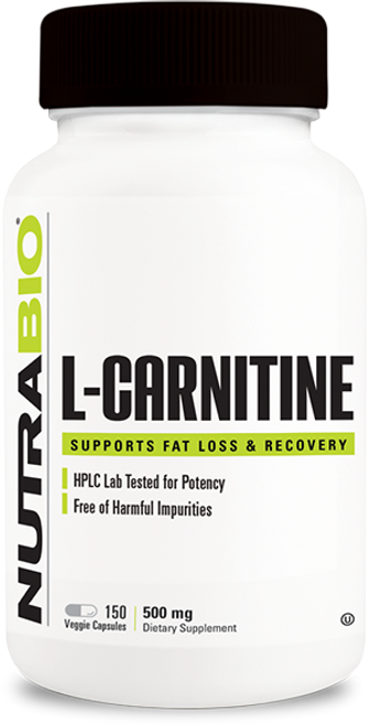 L-Carnitine (500mg) - 150 Vegetable Capsules