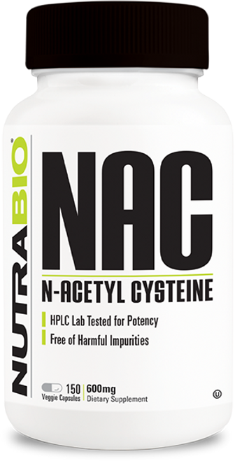 N-Acetyl-Cysteine (NAC) (600 mg) - 150 Vegetable Capsules