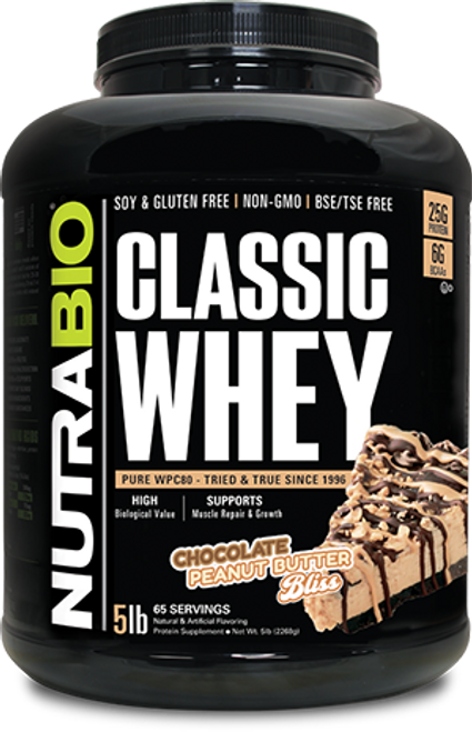 Classic Whey Protein - 5 Pounds (Chocolate Peanut Butter Bliss)