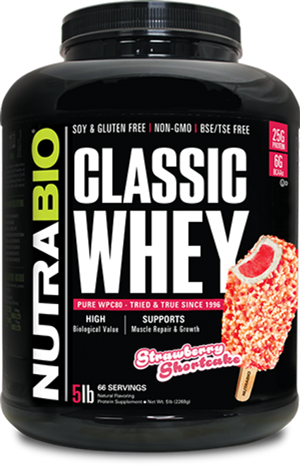 Classic Whey Protein - 5 Pounds (Strawberry Shortcake)