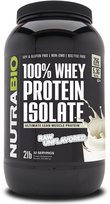 Whey Protein Isolate - 2 Pounds (Unflavored)