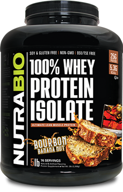 Whey Protein Isolate - 5 Pounds (Bourbon Banana Nut)