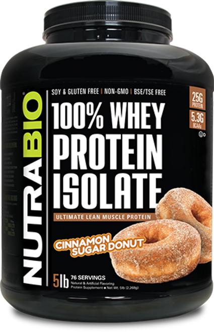 Whey Protein Isolate - 5 Pounds (Cinnamon Sugar Donut)