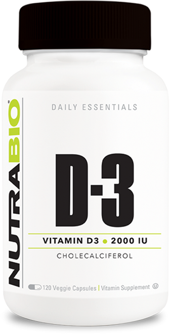 Vitamin D (2000 IU) - 120 Vegetable Capsules