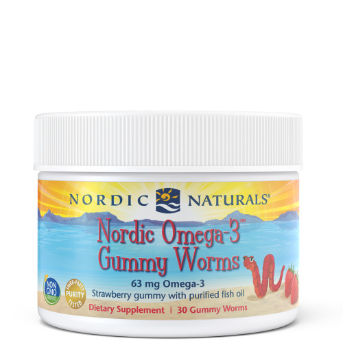 Nordic Omega-3 Gummy Worms Strawberry