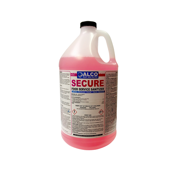 Secure Food Service Sanitizer: 4-1 Gallons